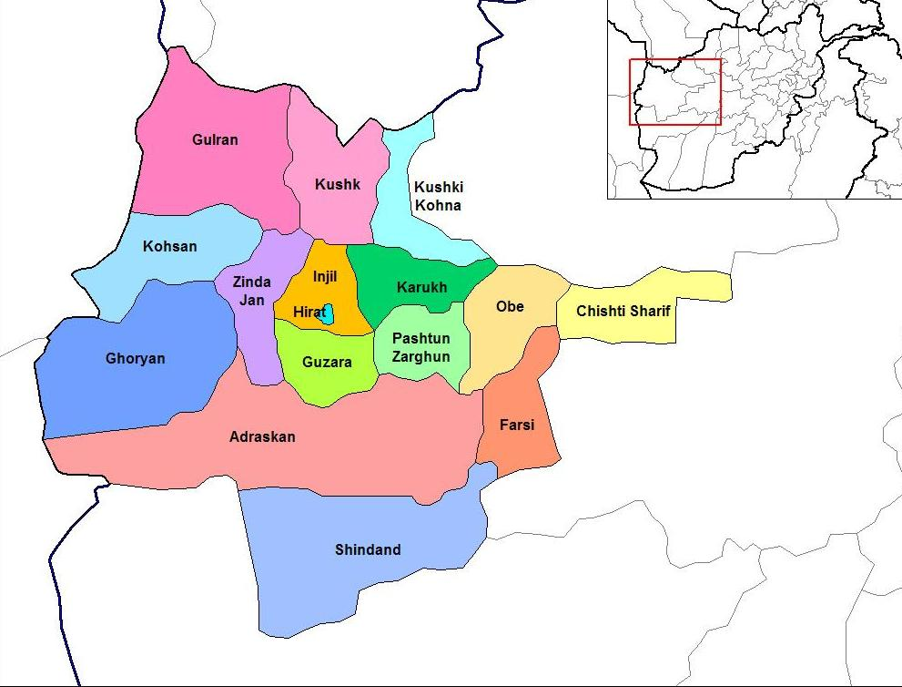 Herat districts jpg