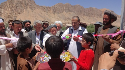 Inauguration of hospital in Samangan